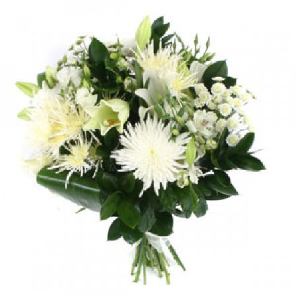 Bereavement bouquet tulips and holly bereavement bouquet izmirmasajfo