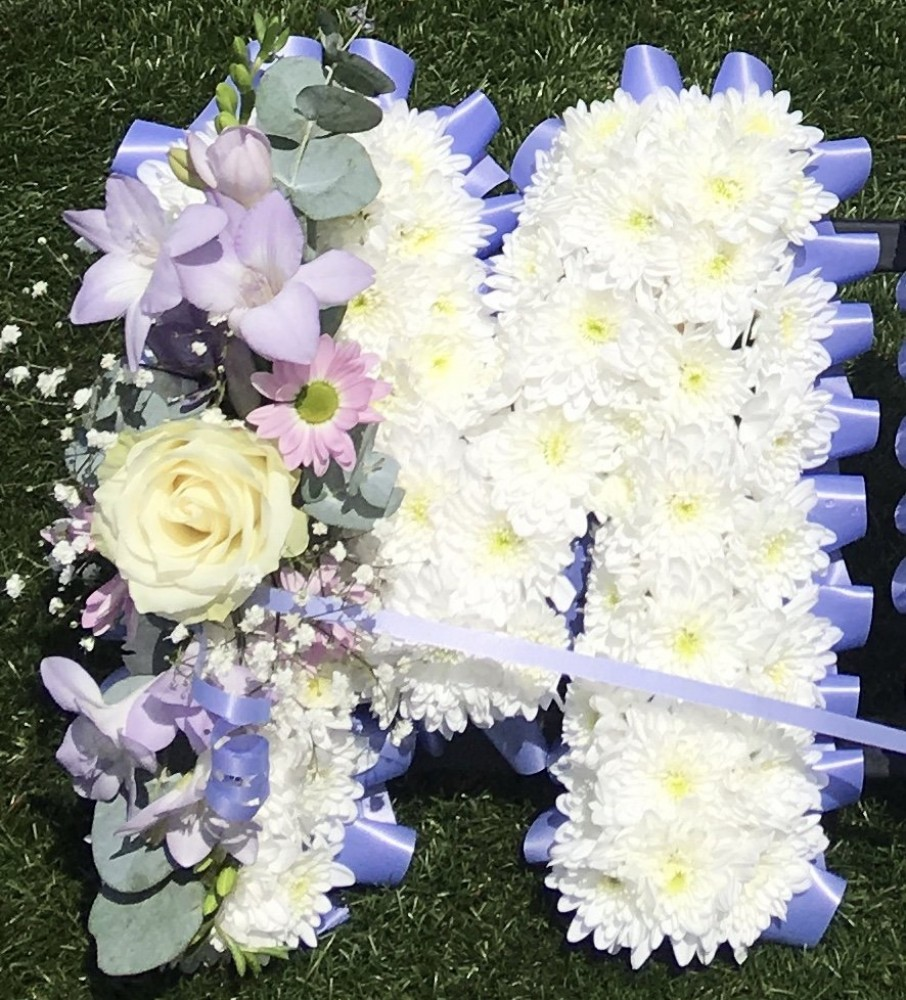 Single Funeral Letter Tulips And Holly Florist