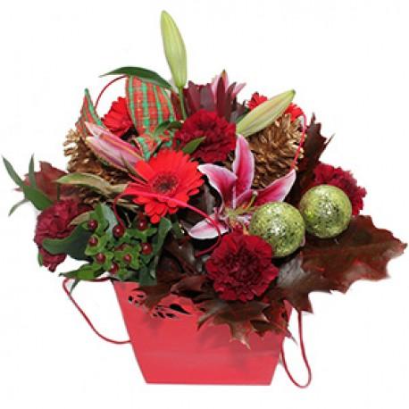 Christmas Cheer Flower Bouquet