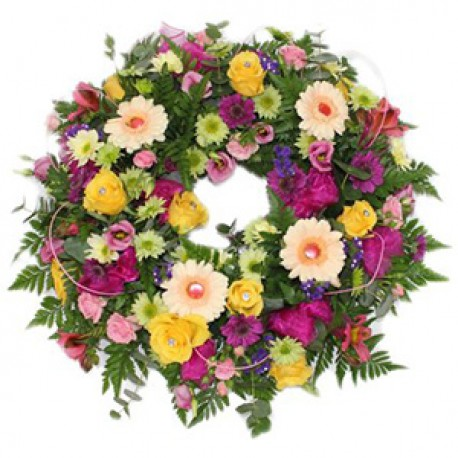 Mixed coloured Sympathy wreath