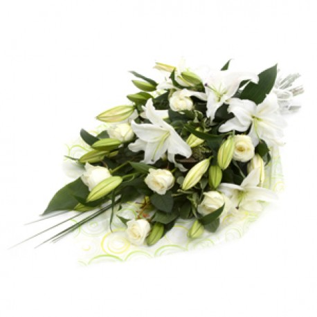 Traditional Funeral Bouquet White