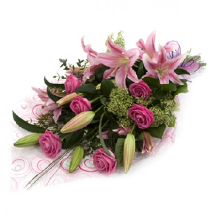 Roses and Lillies with Chocolates