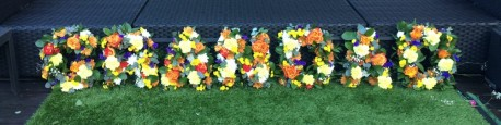 Grandad Letter Tribute in mixed flowers