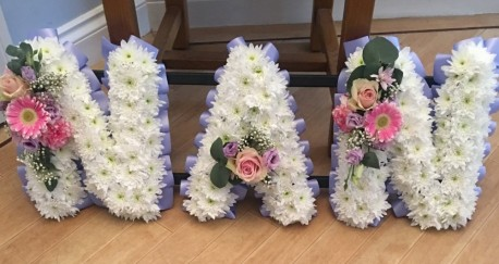 NAN Funeral Tribute Lilac and Pink