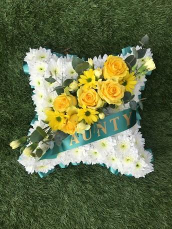 Aunty Funeral Flower Pillow