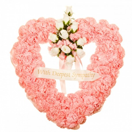 Funeral Heart in Pink