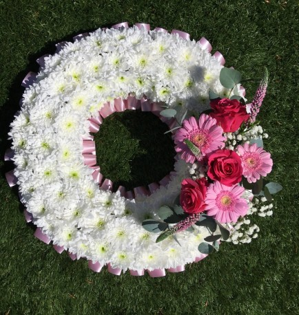 Large Pink Massed wreath