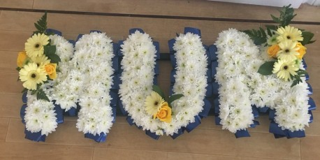 MUM Letter Tribute Blue
