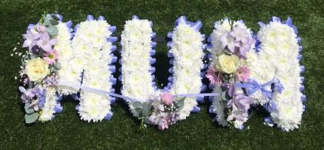 MUM Letter Tribute Lilac
