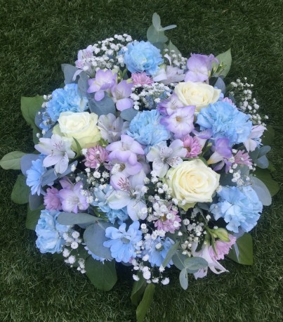 Blue and Lilac Posy Pad