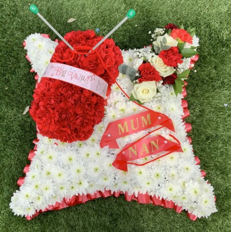 Knitting Funeral Tribute