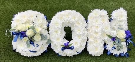 Son Funeral Letter Tribute Blue