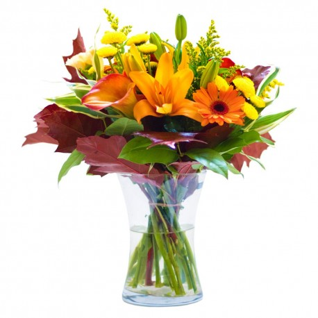 Autumn Sun Vase Arrangment