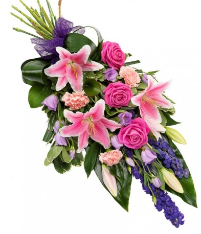 Pink and Purple Funeral Sheaf