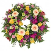 Mixed coloured Sympathy wreath