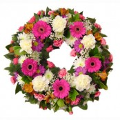Pink and White Sympathy wreath