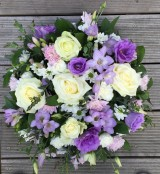 Funeral Posy White and Mauve