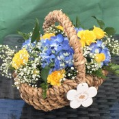 Little Girls flower basket