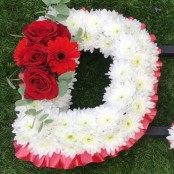 DAD Funeral Letter Tribute in Red and White