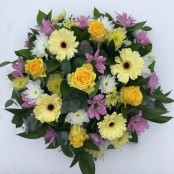 Funeral Posy Yellow/Purple