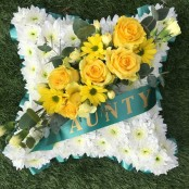 Aunty Funeral Flower Pillow