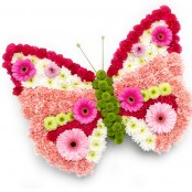 Butterfly Funeral Flower Tribute