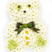 Teddy Funeral Flower Tribute