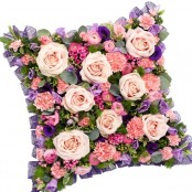 Pink and Purple Funeral Pillow