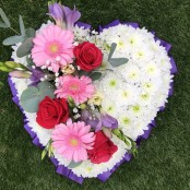 Purple and Pink Funeral Heart