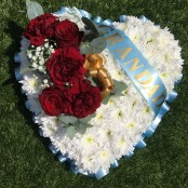 Grandad Funeral Heart