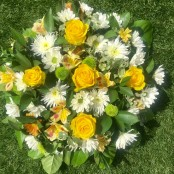 Yellow Funeral Posy pad