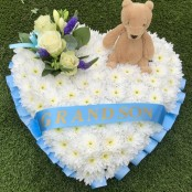 Childs Funeral Heart Teddy