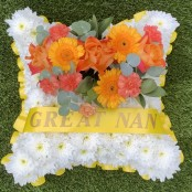 Yellow and Orange Funeral Pillow