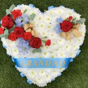 Funeral Heart Blue and Red
